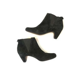 [Sam Edelman] Black Suede/Leather Ankle Boots - 10